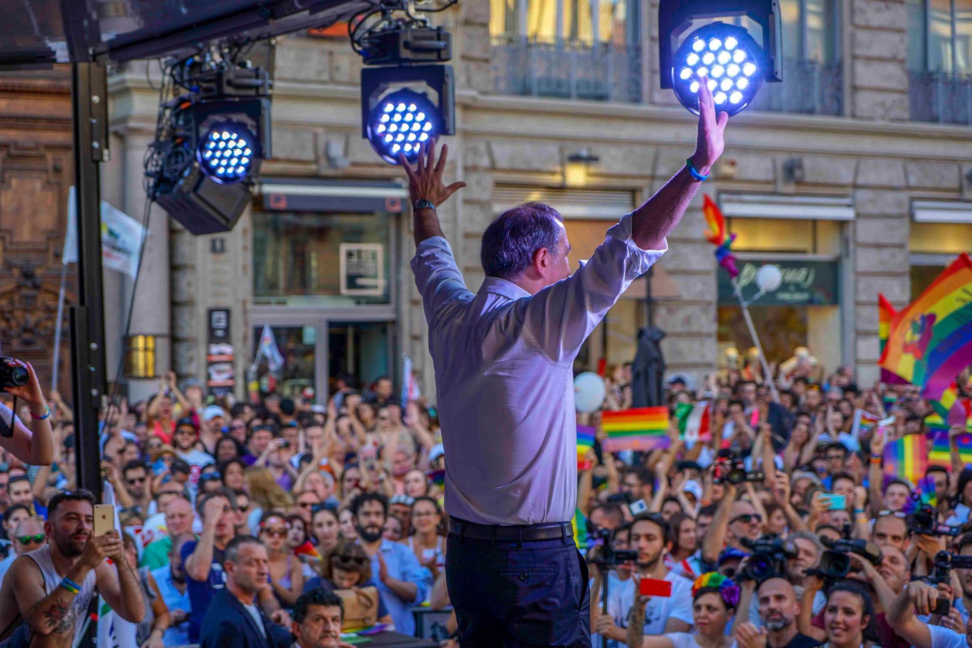 beppe sala, gay pride milano 2018, fotografia di eventi, milano, elena galimberti